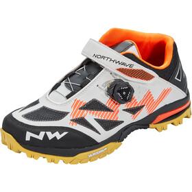 Northwave Enduro Mid Schuhe Herren weiß/orange